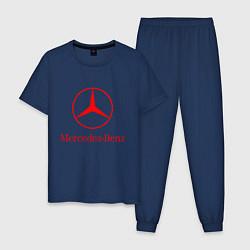 Пижама хлопковая мужская MERCEDES цвета тёмно-синий — фото 1