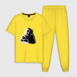 Пижама хлопковая мужская R6s:Mute цвета желтый — фото 1
