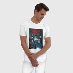 Пижама хлопковая мужская Stranger Thing цвета белый — фото 2