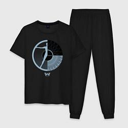 Пижама хлопковая мужская Westworld цвета черный — фото 1