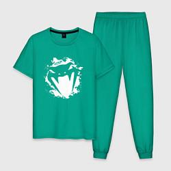 Пижама хлопковая мужская VENUM цвета зеленый — фото 1