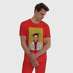 Пижама хлопковая мужская Little Big: Banana Man цвета красный — фото 2