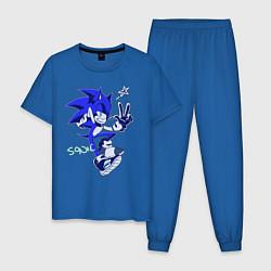 Пижама хлопковая мужская Sonik цвета синий — фото 1