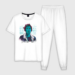 Пижама хлопковая мужская Jughead цвета белый — фото 1