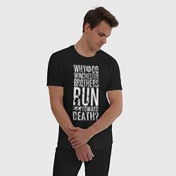 Пижама хлопковая мужская Winchester Brothers цвета черный — фото 2