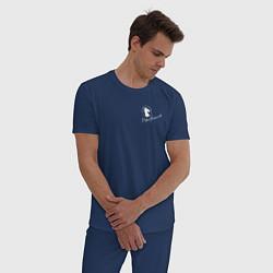Пижама хлопковая мужская BoJack Horseman цвета тёмно-синий — фото 2