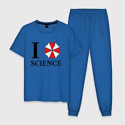 Пижама хлопковая мужская UMBRELLA CORP цвета синий — фото 1