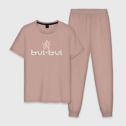 Пижама хлопковая мужская SUL SUL - Коллекция HG цвета пыльно-розовый — фото 1