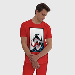 Пижама хлопковая мужская Venom цвета красный — фото 2