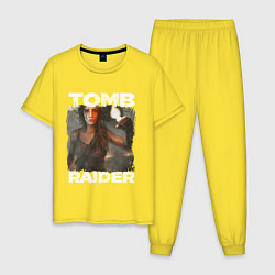 Пижама хлопковая мужская TOMB RAIDER цвета желтый — фото 1