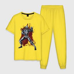 Пижама хлопковая мужская Caiber Sub Zero цвета желтый — фото 1