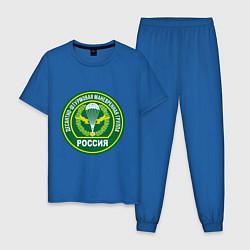 Пижама хлопковая мужская ДШМГ России цвета синий — фото 1
