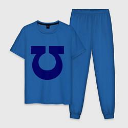 Пижама хлопковая мужская Ультрадесант (Ultramarines) цвета синий — фото 1
