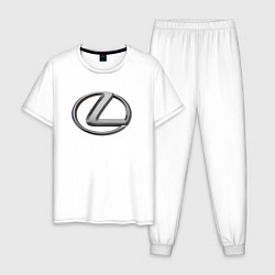 Пижама хлопковая мужская LEXUS цвета белый — фото 1