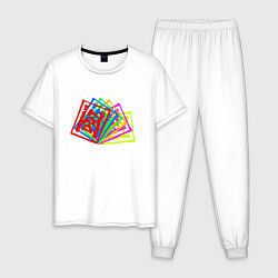 Пижама хлопковая мужская ДДТ Z цвета белый — фото 1