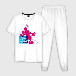Пижама хлопковая мужская Mickey Forever цвета белый — фото 1