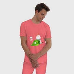 Пижама хлопковая мужская The Legend of Zelda цвета коралловый — фото 2