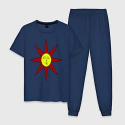 Пижама хлопковая мужская Dark Souls цвета тёмно-синий — фото 1