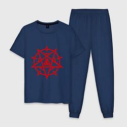 Пижама хлопковая мужская Пентограмма цвета тёмно-синий — фото 1