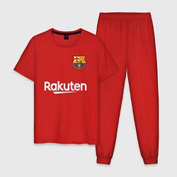 Пижама хлопковая мужская BARCELONA цвета красный — фото 1