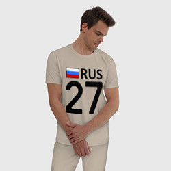 Пижама хлопковая мужская RUS 27 цвета миндальный — фото 2