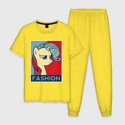 Пижама хлопковая мужская Trixie Fashion цвета желтый — фото 1