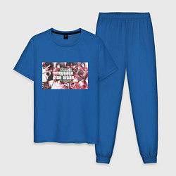 Пижама хлопковая мужская Атака Титанов цвета синий — фото 1