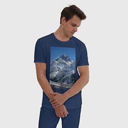 Пижама хлопковая мужская Эверест цвета тёмно-синий — фото 2