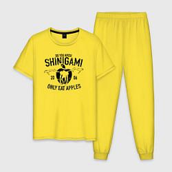 Пижама хлопковая мужская Death Note цвета желтый — фото 1