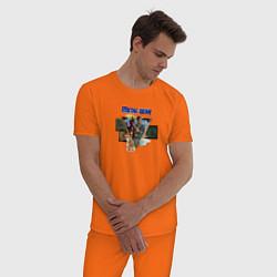 Пижама хлопковая мужская Metal Gear цвета оранжевый — фото 2