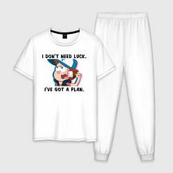 Пижама хлопковая мужская Диппер Пайнс цвета белый — фото 1