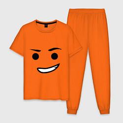 Пижама хлопковая мужская Emmet цвета оранжевый — фото 1