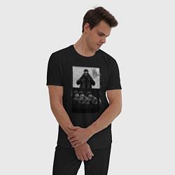 Пижама хлопковая мужская Jony цвета черный — фото 2