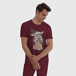 Пижама хлопковая мужская Дитя цвета меланж-бордовый — фото 2