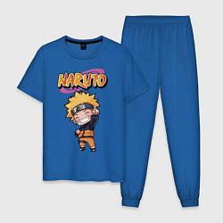 Пижама хлопковая мужская Narurto цвета синий — фото 1