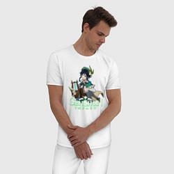 Пижама хлопковая мужская Genshin impact Венти цвета белый — фото 2