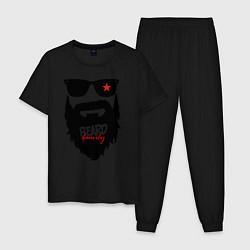 Пижама хлопковая мужская Хипстер цвета черный — фото 1