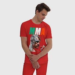 Пижама хлопковая мужская Конор МакГрегор цвета красный — фото 2