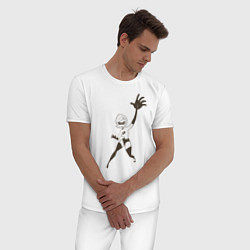 Пижама хлопковая мужская Суперсемейка цвета белый — фото 2