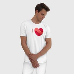 Пижама хлопковая мужская Я люблю Жигулёвск цвета белый — фото 2