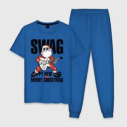 Пижама хлопковая мужская SWAG цвета синий — фото 1