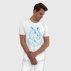 Пижама хлопковая мужская I DID IT FOR ME цвета белый — фото 2