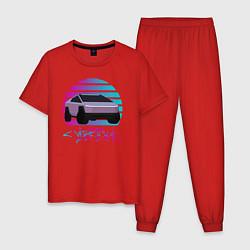 Пижама хлопковая мужская Cybertruck Aesthetics цвета красный — фото 1