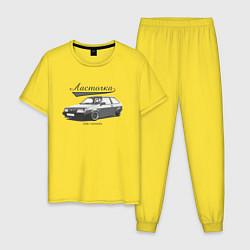 Пижама хлопковая мужская 2108 Ласточка цвета желтый — фото 1