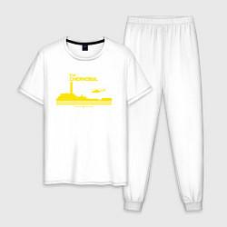 Пижама хлопковая мужская Visit Chernobyl цвета белый — фото 1