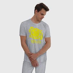 Пижама хлопковая мужская Nirvana Smile цвета меланж — фото 2