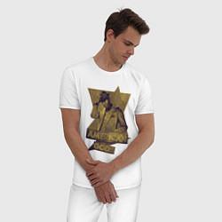 Пижама хлопковая мужская Ананси Американские Боги цвета белый — фото 2