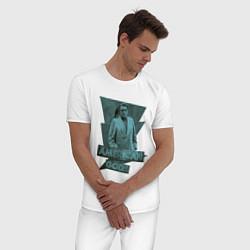 Пижама хлопковая мужская Мистер Среда Американские Боги цвета белый — фото 2