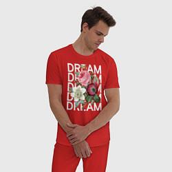 Пижама хлопковая мужская Dream цвета красный — фото 2