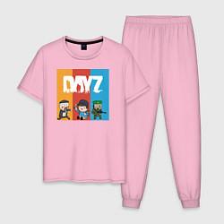 Пижама хлопковая мужская DayZ ДэйЗи цвета светло-розовый — фото 1